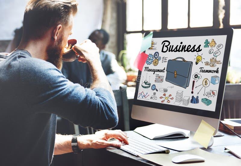 Gestão empresarial Team Teamwork Support Concept imagem de stock royalty free