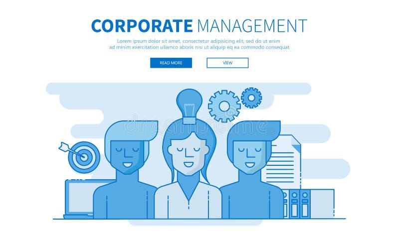 Gestão incorporada Equipe de desenvolvimento Ilustração lisa do vetor ilustração stock