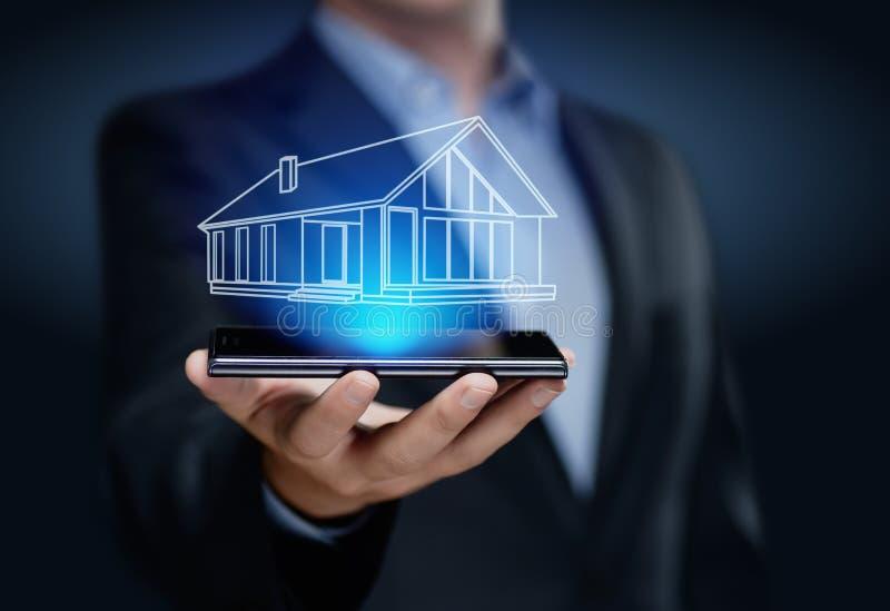 A gestão Real Estate da propriedade hipoteca o conceito da compra do aluguel fotografia de stock