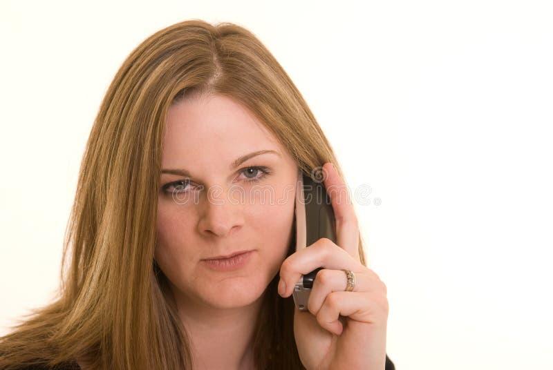 Gestörte Frau lizenzfreies stockbild