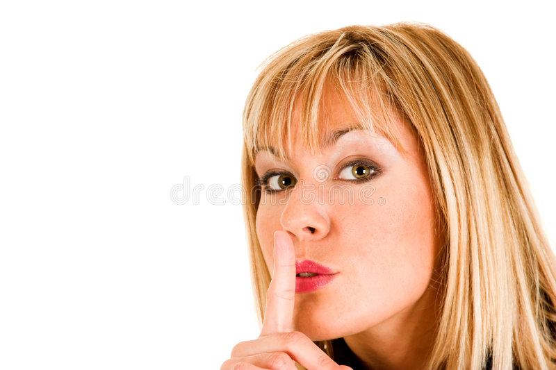 gest ciszy młode dziewczyny fotografia stock
