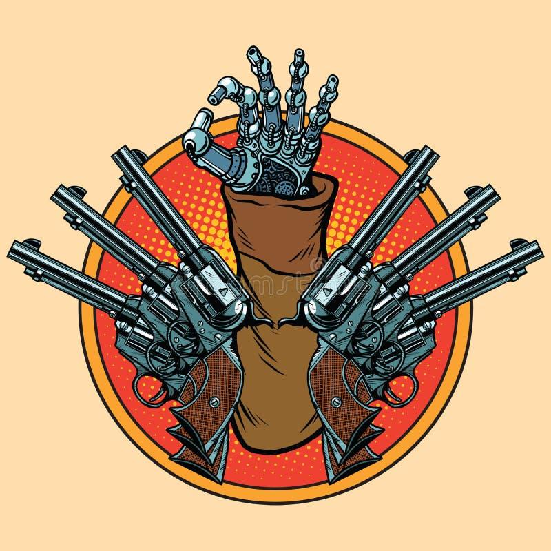 Gest för Steampunk robotgodkännande vektor illustrationer