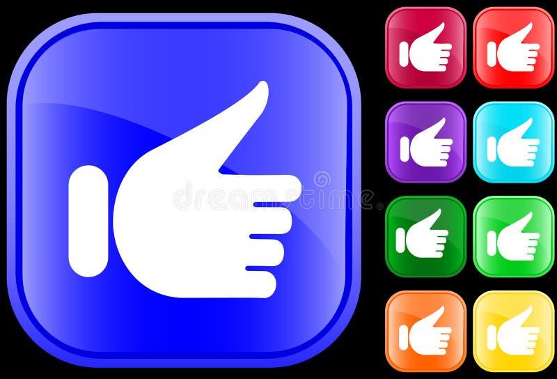 gest ręce ikony royalty ilustracja