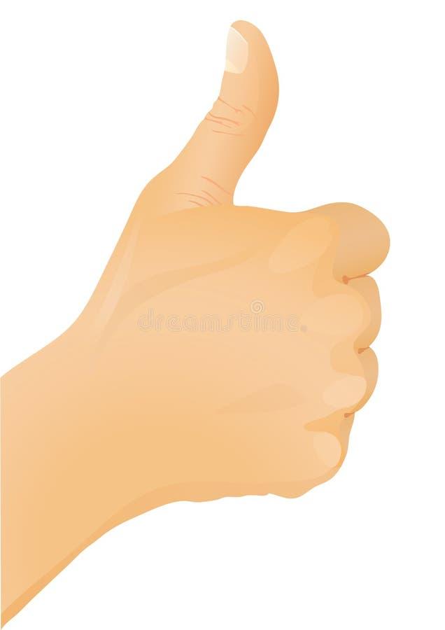 gest ręce kciuk, royalty ilustracja