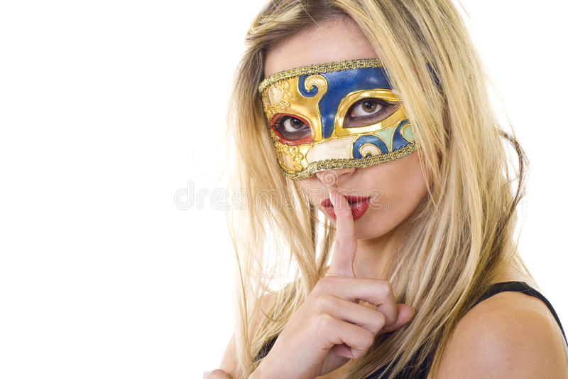 gest robi ciszy maskującej kobiety obraz stock