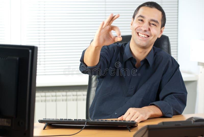 gesta biznesowy mężczyzna fotografia stock