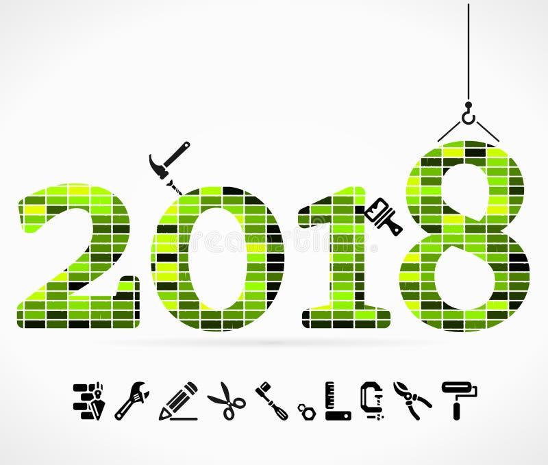 Download Gestalt 2018 vektor abbildung. Illustration von aufbau - 106802062