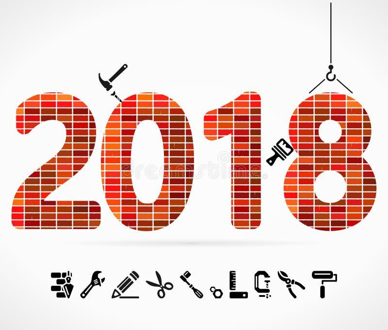 Download Gestalt 2018 vektor abbildung. Illustration von auszug - 106802077