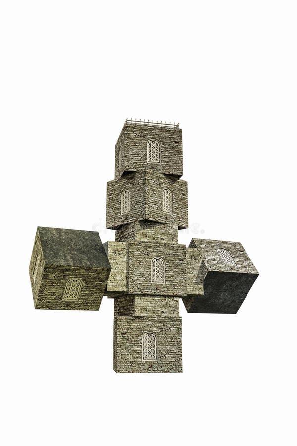 Gestalte gegeven kerkkruis royalty-vrije illustratie