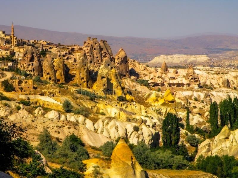 Gestalten Sie Ansicht von Capadocia-Sandbildungen, die Türkei landschaftlich stockfotografie