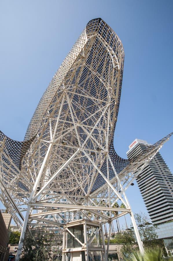 Gestalten Sie Barcelona Fische oder Peix, durch Architekten Frank Gehry, Hafen Olimpic, Barcelona, Katalonien, Spanien, Europa, i stockbild
