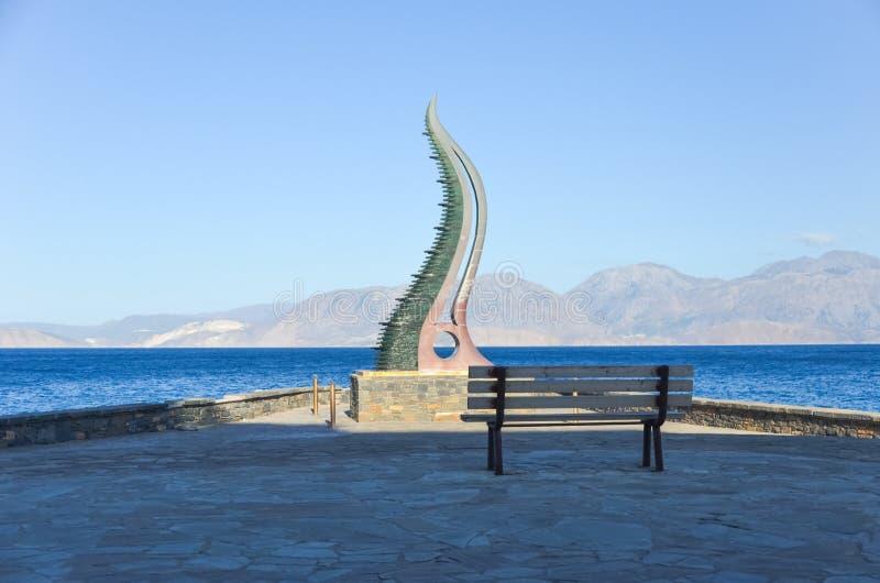 Gestalten Sie Fülle auf dem Ufer der Insel von Kreta stockbilder