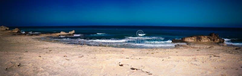Gestalten Sie mit Sand neuem Soyeenats-Strand, Mersa Matruh, Ägypten landschaftlich stockfotografie
