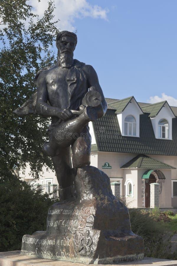 Gestalten Sie ` Wassermann ` in der Straße der Kommune in der Stadt von Veliky Ustyug, Vologda-Region lizenzfreies stockbild