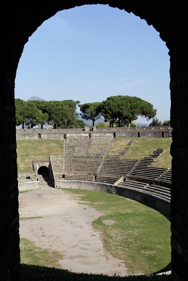 Gestaltete Arena - Pompeji stockfoto