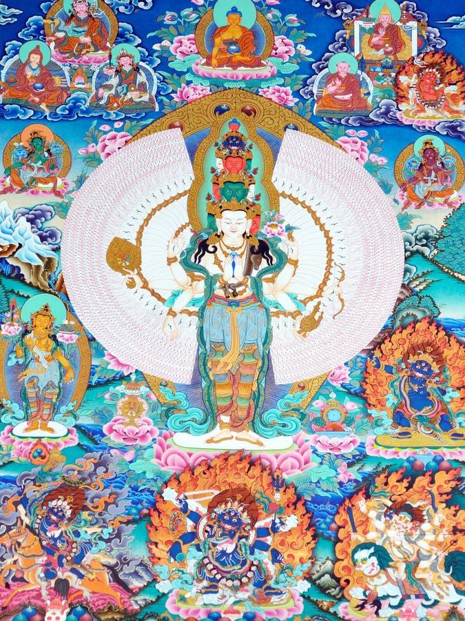 Gestaltungsarbeit der Tibet-traditionellen Kultur lizenzfreie stockfotos