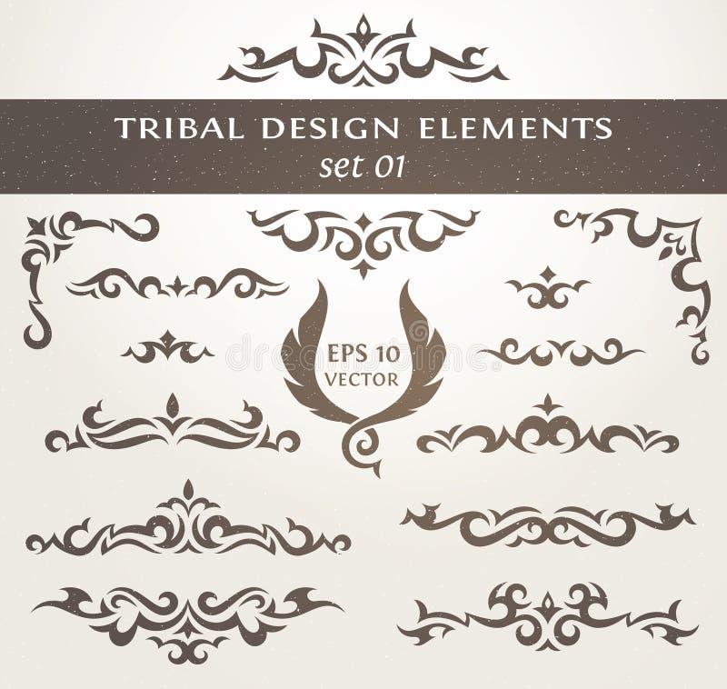 Gestaltungselemente in der Stammes- Art lizenzfreie abbildung