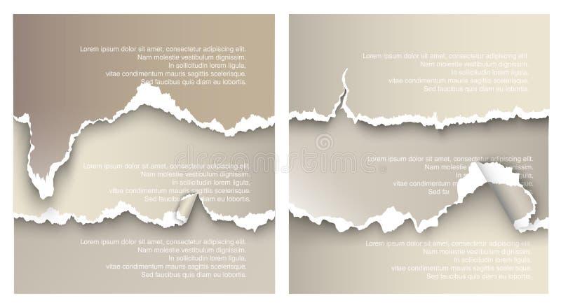 Gestaltungselemente heftiges Papier vektor abbildung