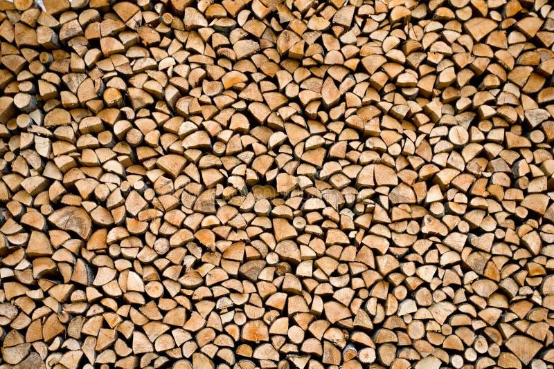 Gestapeld brandhout royalty-vrije stock foto's