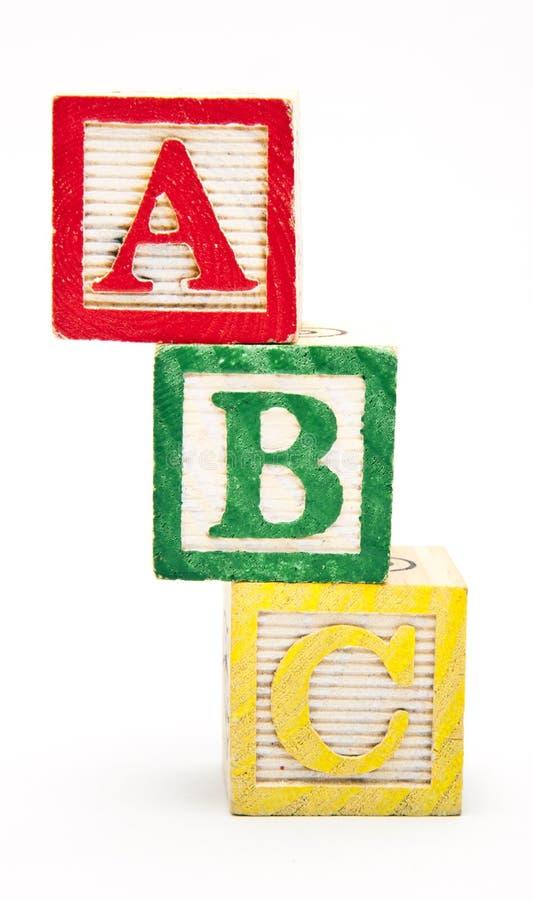 Gestapelde Blokken ABC royalty-vrije stock foto
