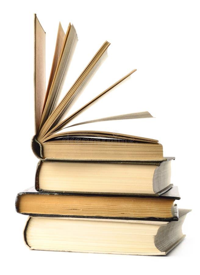 Gestapelde boeken royalty-vrije stock afbeelding