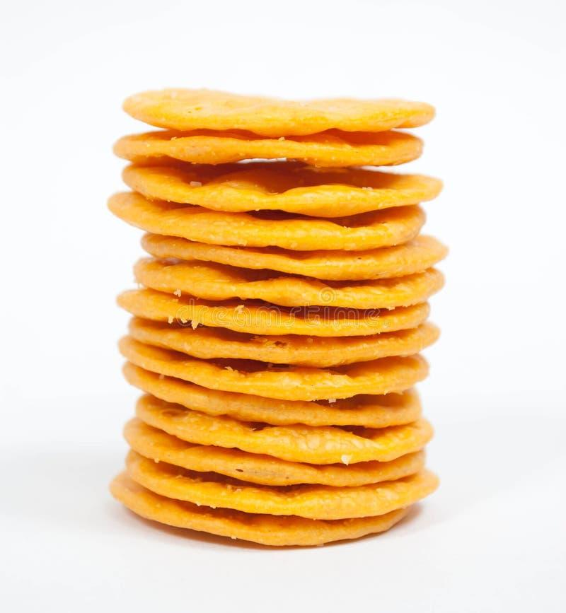 Gestapelde Crackers stock afbeeldingen