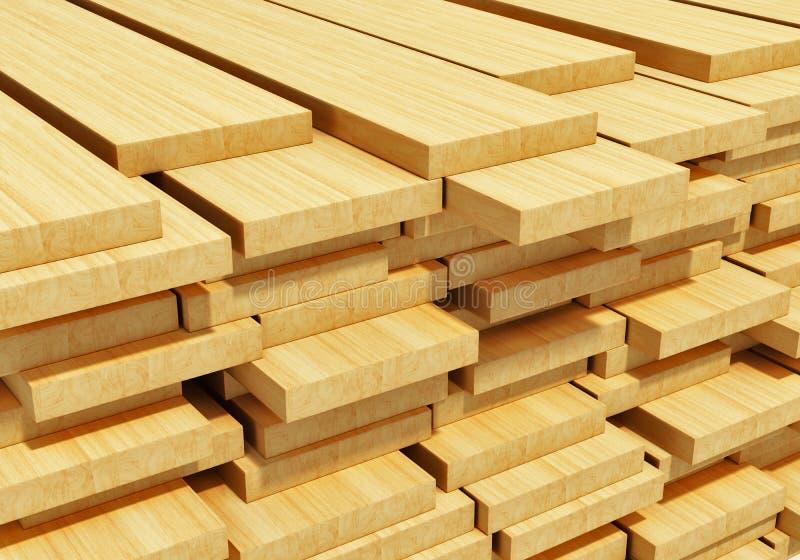 Gestapelde houten planken
