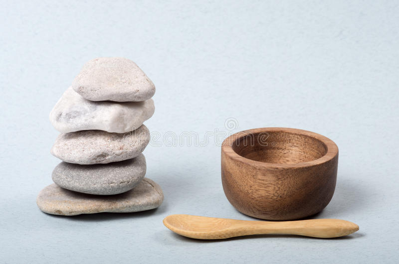 Gestapelde zen stenen royalty-vrije stock afbeelding