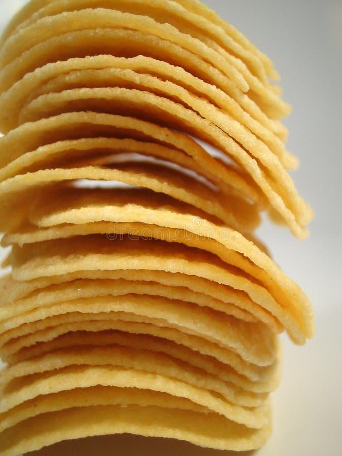 Gestapelte Chips stockfotografie