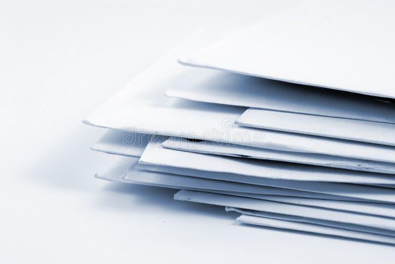 Gestapelte Post lizenzfreies stockbild
