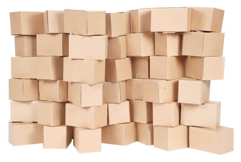 Gestapelte Sammelpacks stockbilder