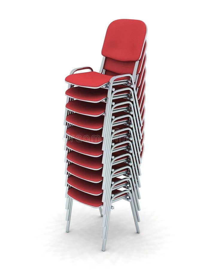 Download Gestapelte Stühle stock abbildung. Illustration von gestapelt - 9084644