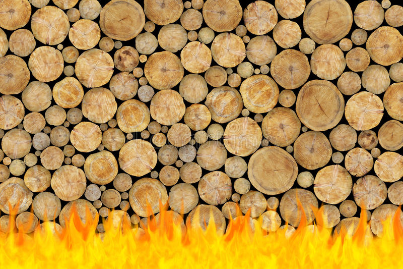Gestapelter Protokoll-Hintergrund im Feuer vektor abbildung