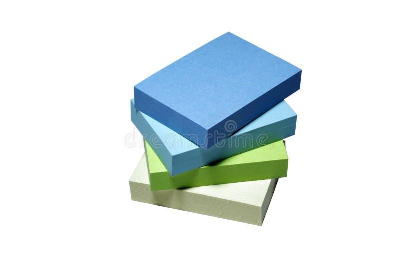 Gestapeltes Anmerkungspapier. Stockbilder