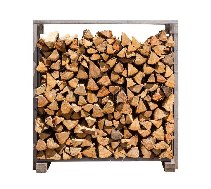 Download Gestapeltes Brennholz Getrennt Auf Weiß Stockfoto - Bild von beschaffenheit, material: 26359788