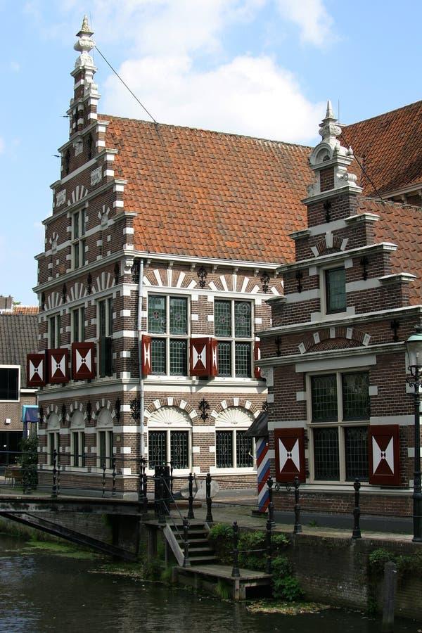 Gestapte geveltophuizen in Holland royalty-vrije stock afbeeldingen