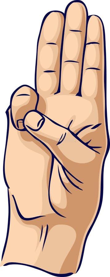 Geste de main d'honneur de scout illustration de vecteur