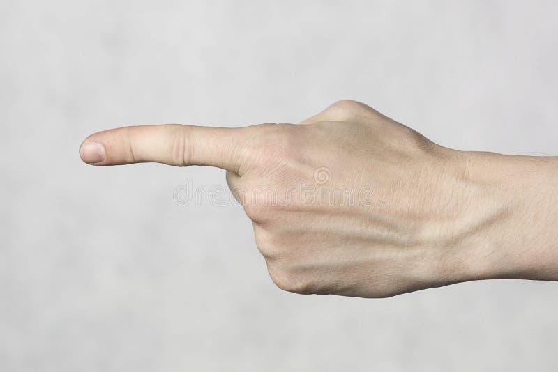 Geste de main de Poining images libres de droits