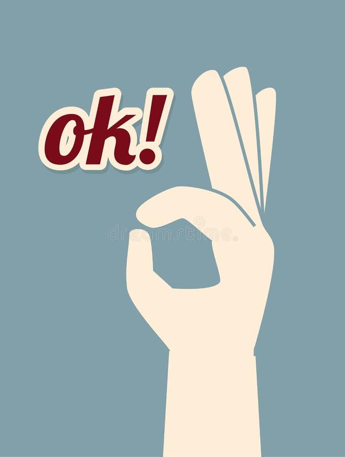 Geste de mains illustration de vecteur