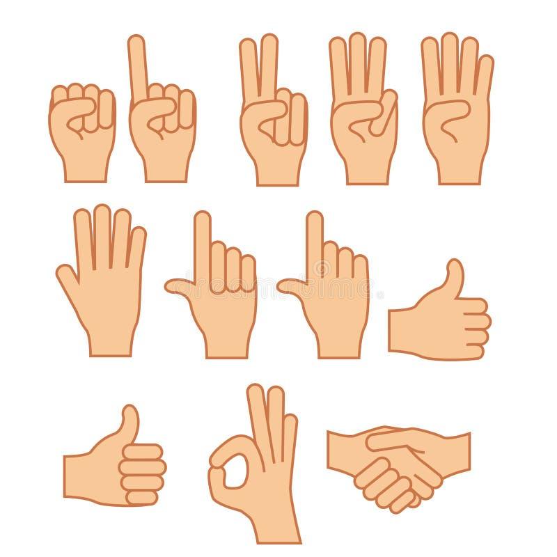 Geste de mains illustration libre de droits