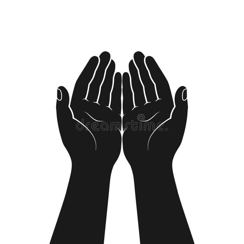 Geste der Hände gefaltet im Gebet vektor abbildung