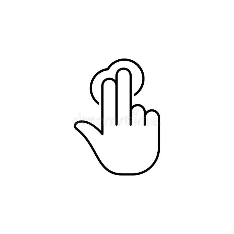 Geste, Hand, Daumen, herauf Entwurfsikone Element der einfachen Ikone für Website, Webdesign, bewegliche APP, Informationsgraphik stock abbildung