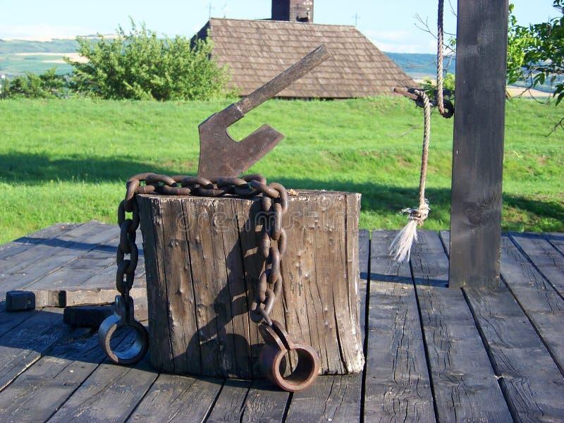 Gestell für Enthauptung stockfotografie