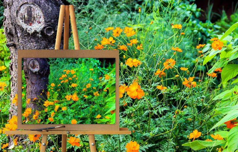 Gestell mit einer Malereiaquarellillustration des veränderten glo lizenzfreies stockbild