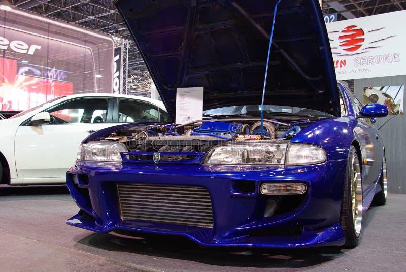 Gestemd blauw Nissan 200SX S14 royalty-vrije stock foto