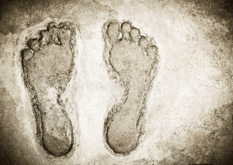 Gestempelde voetafdruk stock foto's