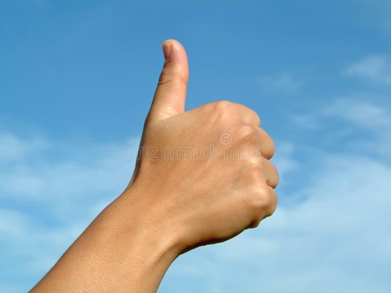 gesten hands den ok positiven arkivfoto
