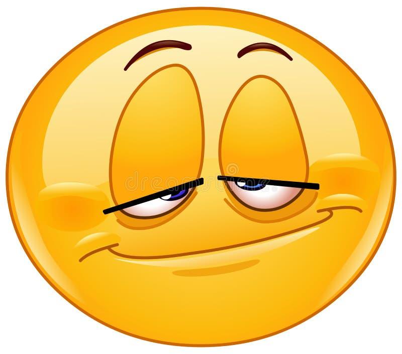 Gestenigd emoticon stock illustratie