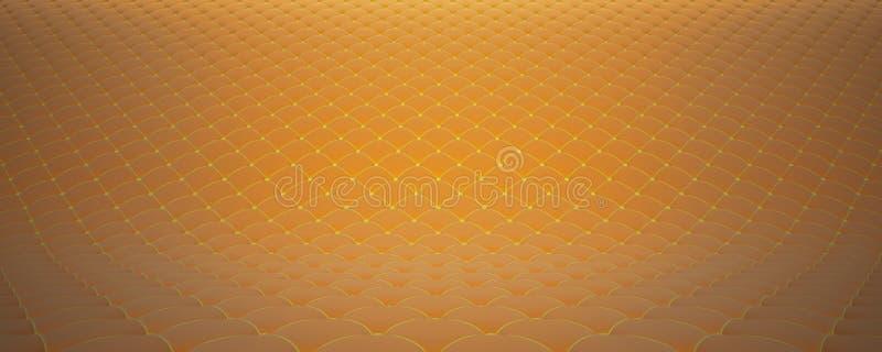 Gesteppte Gewebeoberfläche Orange Samt und gelber Samt Wahl 2 lizenzfreies stockfoto