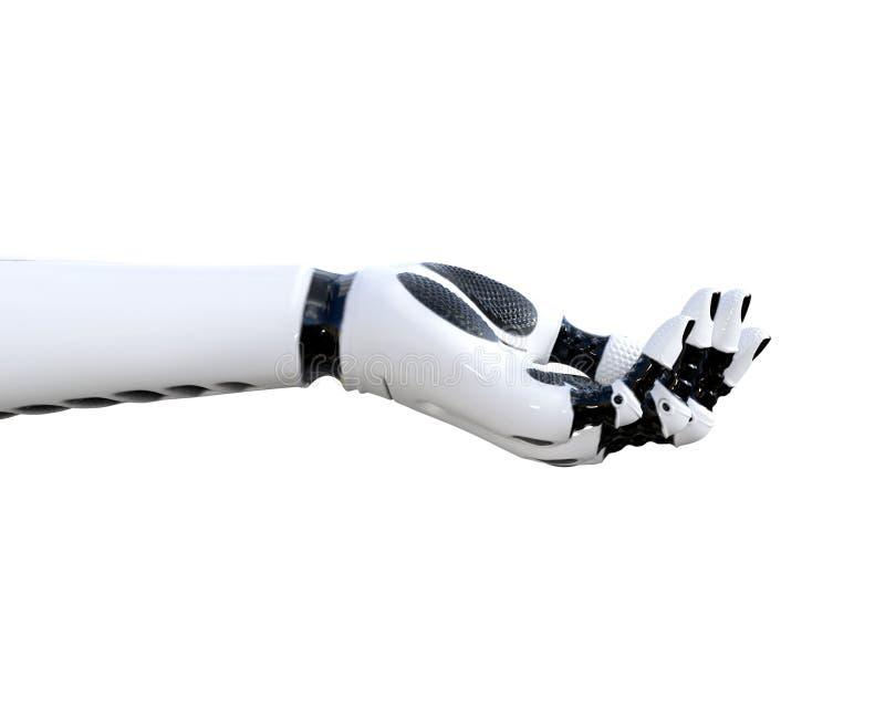 Gestes de main de droid en métal blanc illustration stock